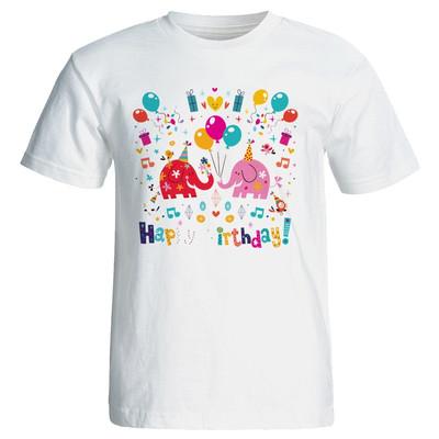 تی شرت زنانه طرح فیل تولد کد 7064