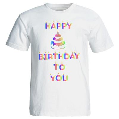 تی شرت زنانه طرح کیک تولد کد 7083