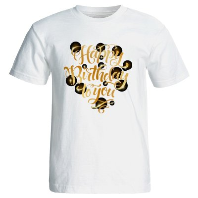 تصویر تی شرت زنانه طرح کیک تولد کد 7076