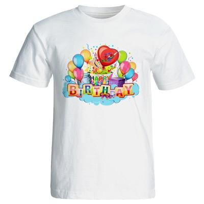 تی شرت زنانه طرح بادکنک تولد کد 7093