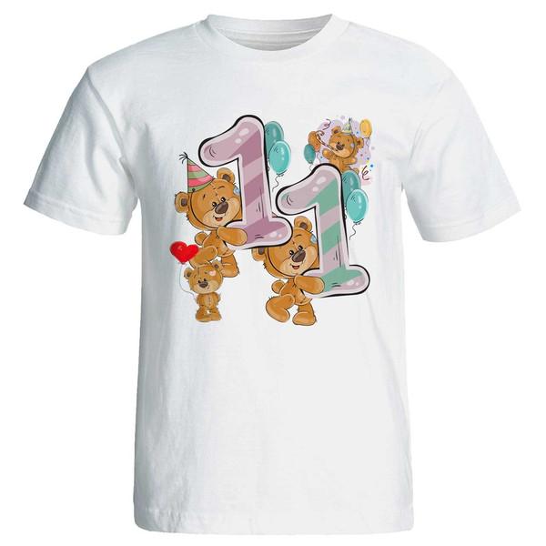 تی شرت آستین کوتاه مارس طرح تولد یازده سالگی کد 3511