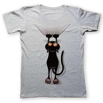 تی شرت به رسم طرح گربه کد 256