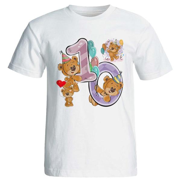 تی شرت آستین کوتاه مارس طرح تولد ده سالگی کد 3510