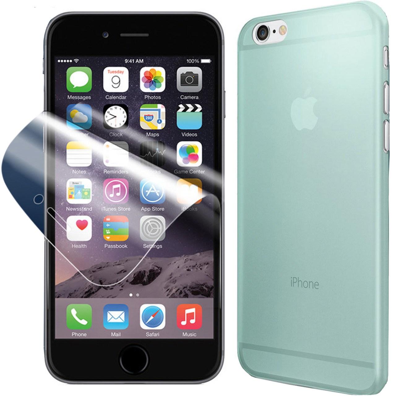 مجموعه کاور و محافظ صفحه نمایش اسپیگن شماره 10 مناسب برای گوشی موبایل آیفون 6