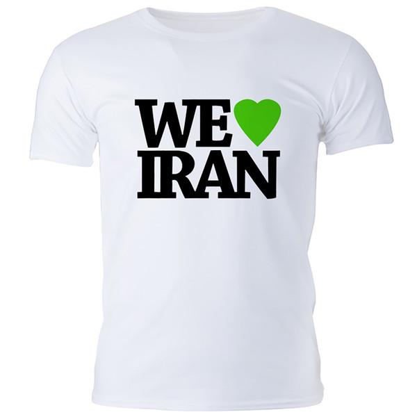 تی شرت مردانه گالری واو طرح ایران کد CT10116