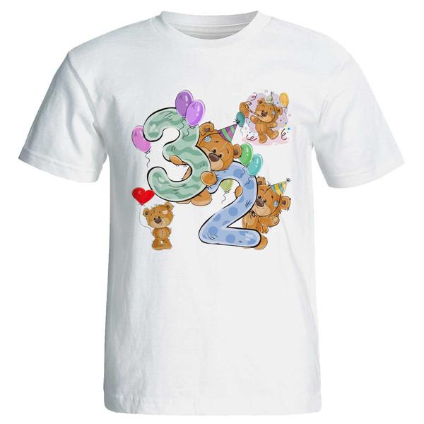 تی شرت آستین کوتاه مارس طرح تولد سی و دو سالگی کد 3532