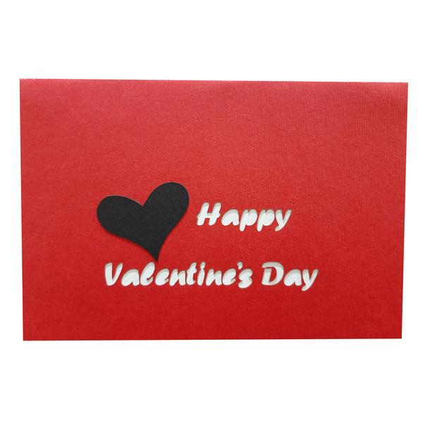 کارت پستال سه بعدی طرح قلب های عاشق کد DLL33R