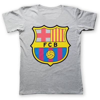 تصویر تی شرت به رسم طرح بارسلونا کد 213