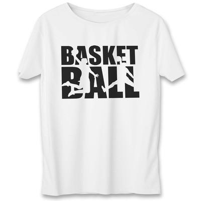 تصویر تی شرت یورپرینت به رسم طرح بسکتبال کد 330