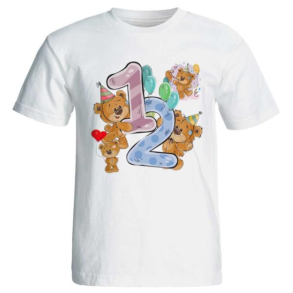 تی شرت آستین کوتاه مارس طرح تولد دوازده سالگی کد 3512