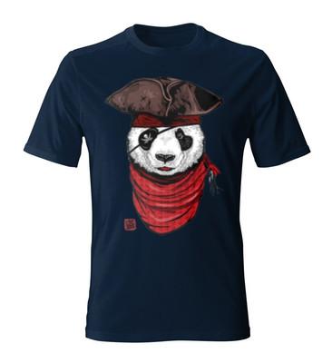 تصویر تی شرت مردانه طرح پاندا The Happy Pirate22