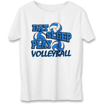 تی شرت یورپرینت به رسم طرح والیبال کد 341