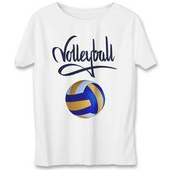 تی شرت یورپرینت به رسم طرح توپ والیبال کد 342