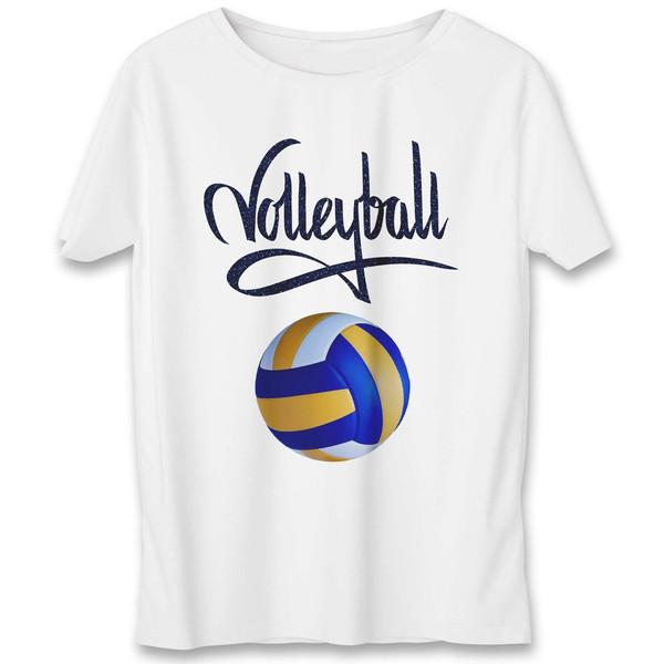 تی شرت مردانه به رسم طرح توپ والیبال کد 342