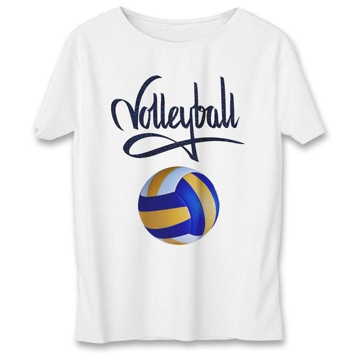 تی شرت یورپرینت به رسم طرح توپ والیبال کد 342 main 1 1