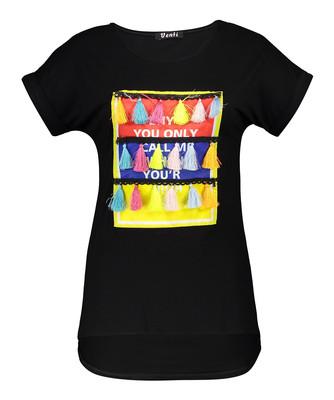 تی شرت زنانه طرح منگوله بصیر ایران مدل 00528