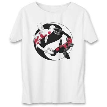 تی شرت یورپرینت به رسم طرح یین و یانگ کد 334