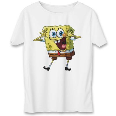 Photo of تی شرت یورپرینت به رسم طرح باب اسفنجی کد 345