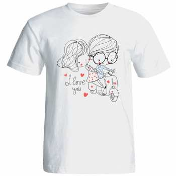 تی شرت زنانه آستین کوتاه نوین نقش طرح کد 9523