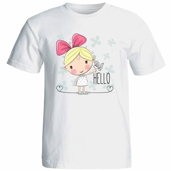 تی شرت زنانه آستین کوتاه نوین نقش طرح کد 9625
