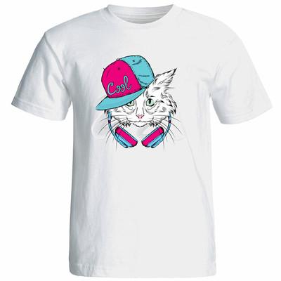 تی شرت زنانه آستین کوتاه نوین نقش طرح کد 9646