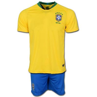 تصویر پیراهن و شورت تمرینی تیم برزیل مدل Home-Worldcup2018
