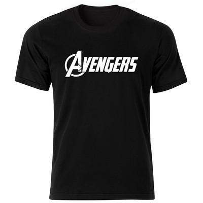 تیشرت آستین کوتاه مردانه بلک اند وایت طرح Avengers کد BW6069