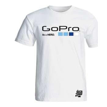 تیشرت آستین کوتاه سفید طرح گوپرو سالامین کد SA106