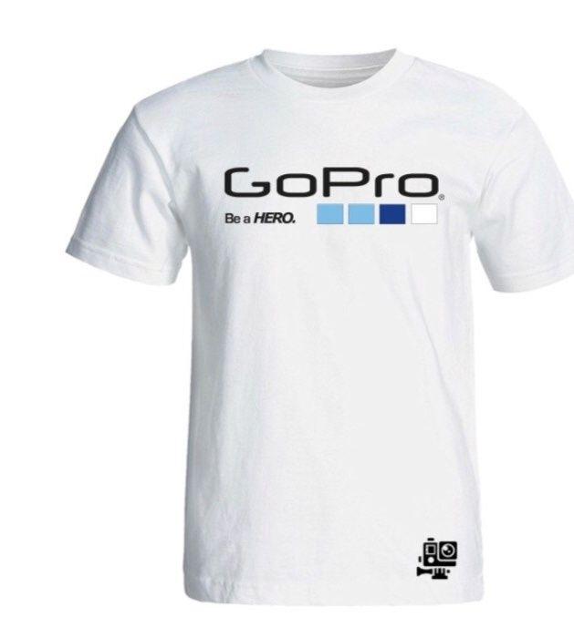 تیشرت آستین کوتاه سفید طرح گوپرو سالامین کد SA106 main 1 1