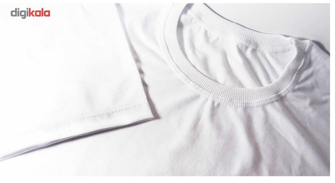 تیشرت آستین کوتاه سفید طرح گوپرو سالامین کد SA106 main 1 2