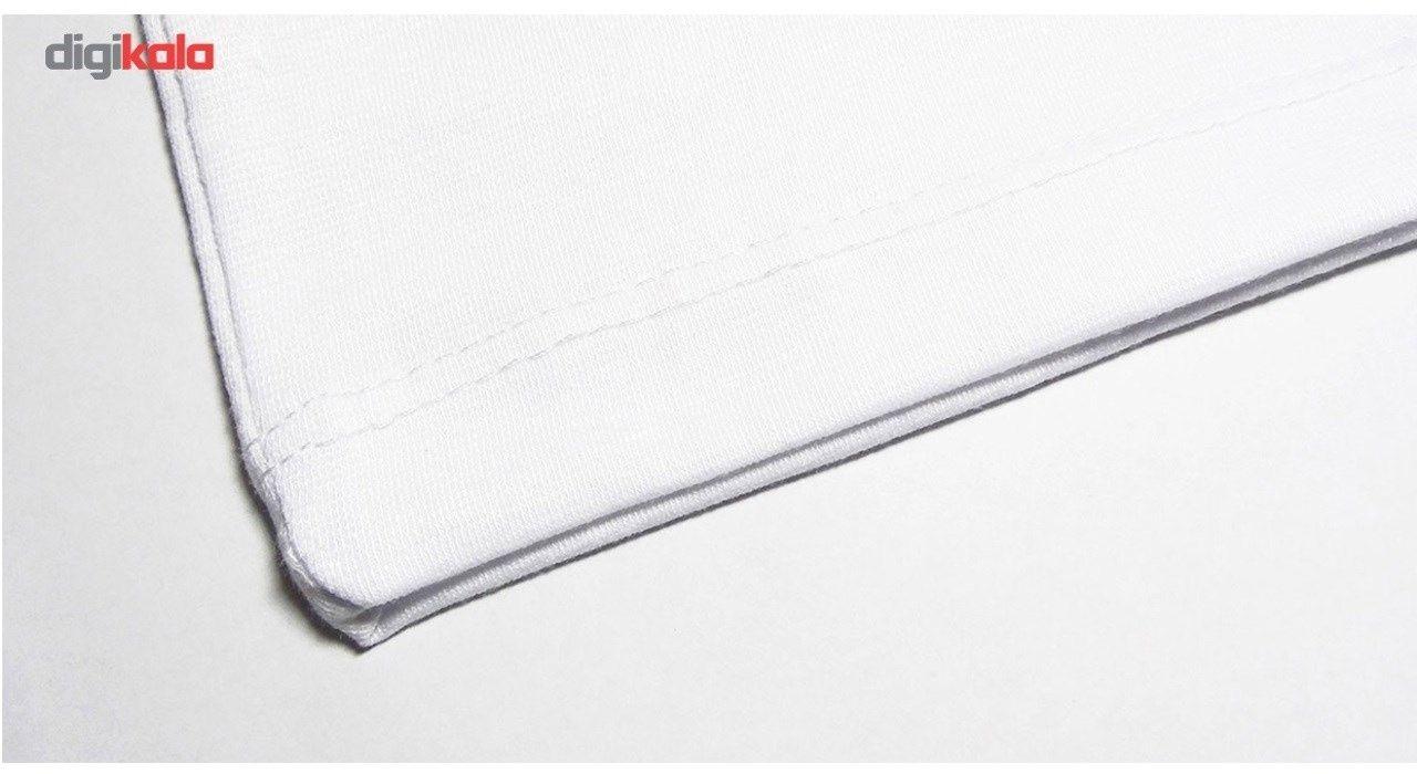 تیشرت آستین کوتاه سفید طرح گوپرو سالامین کد SA106 main 1 3