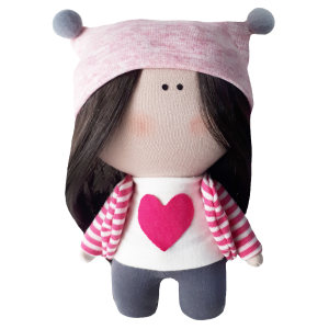 عروسک طرح دختر روسی قلبی کد MG07 ارتفاع 15 سانتی متر