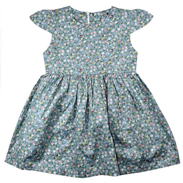 پیراهن دخترانه نیروان طرح گل گلی کد 3
