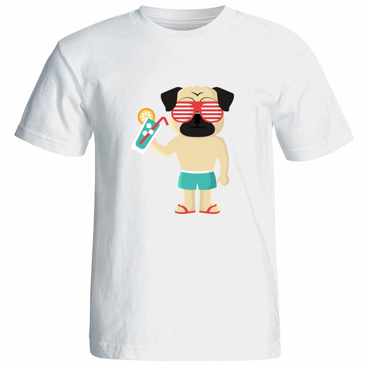 تیشرت آستین کوتاه مردانه شین دیزاین طرح سگ کد 4689