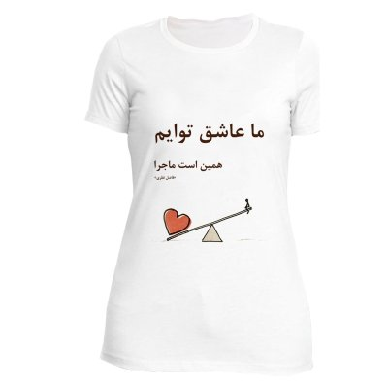 تصویر تی شرت زنانه نگار ایرانی طرح Z-J 12
