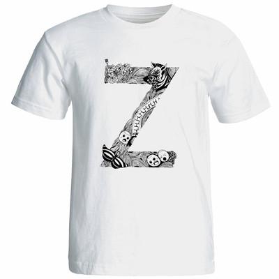 تی شرت آستین کوتاه زنانه شین دیزاین طرح حروف اول اسم Z کد 4560