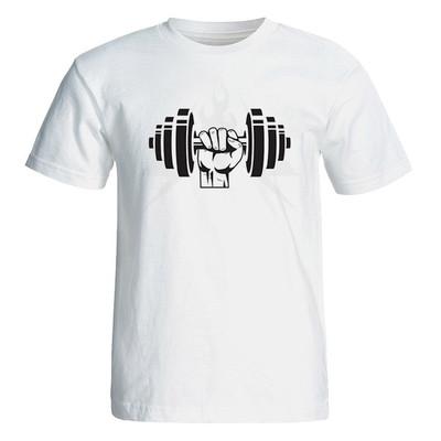 Photo of تی شرت آستین کوتاه مردانه  طرح دمبل کد 4698