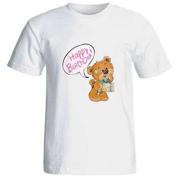 تیشرت آستین کوتاه زنانه شین دیزاین طرح خرس کد 4701
