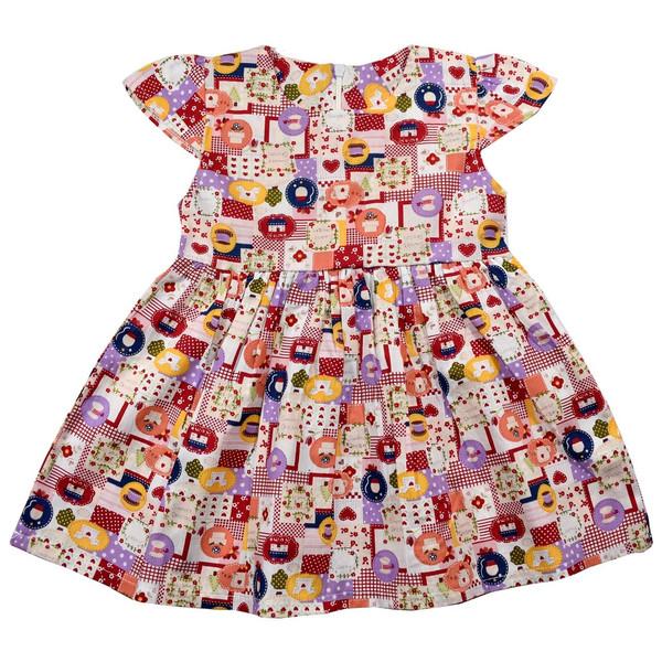 پیراهن دخترانه نیروان طرح رنگ رنگی  کد 2
