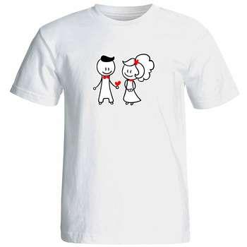 تیشرت آستین کوتاه زنانه شین دیزاین  طرح عشق کد 4627