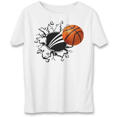 تی شرت یورپرینت به رسم طرح توپ بسکتبال کد 525
