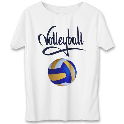 تی شرت به رسم طرح والیبال کد 542