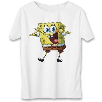 تصویر تی شرت به رسم طرح باب اسفنجی کد 545