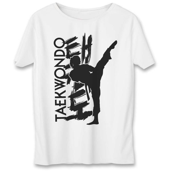 تی شرت به رسم طرح تکواندو کد 548