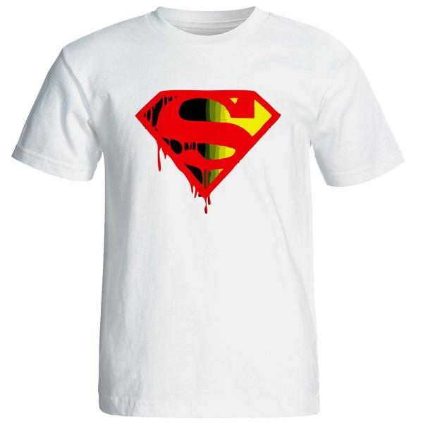 تیشرت آستین کوتاه مردانه نیکو طرح سوپرمن کد 6699