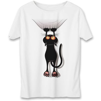 تی شرت به رسم طرح گربه کد 556
