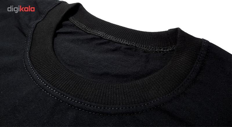 تیشرت آستین کوتاه مردانه تارپون طرح گرگ کد 10326bw