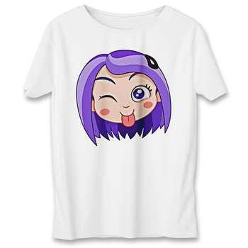 تی شرت به رسم طرح استیکر دختر کد 557