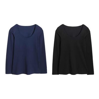 تی شرت آستین بلند زنانه اسمارا مدل 9106081 مجموعه 2 عددی