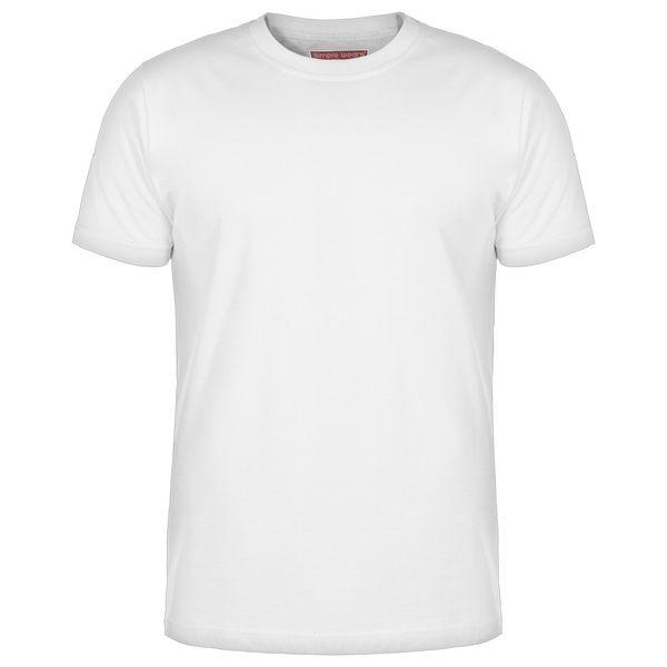 تی شرت مردانه سیمپل مدل sw3-White